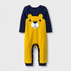 94e4abe9d697 Baby Boys' Long Sleeve Lap Shoulder Bear Romper - Cat & Jack Navy/