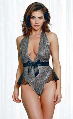 EUPHORIA OPEN CUP BUSTIER /& CROTCHLESS BOYSHORTS TEDDY LINGERIE