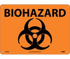 BIOHAZARD (Symbol), 10X14, Rigid Plastic