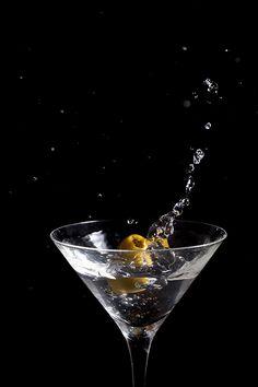 Classic martini splash.