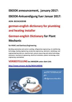 german-english dictionary for plumbing and heating installer