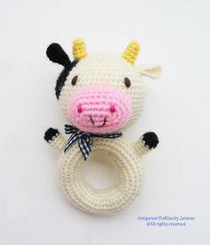 Animal Donut Rattle Toy PDF Crochet Pattern from jaravee op Etsy