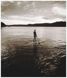 Early morning paddle on the Lake of the Ozarks, Missouri