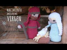 Tutorial Belén Amigurumi Part 1: Virgen María (Nativity English subtitles) - YouTube