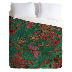 Belle13 Chrysanthemum Garden Duvet Cover | DENY Designs Home Accessories