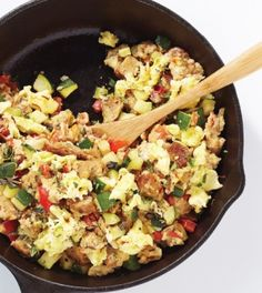 Spanish Scramble - Clean Eating - Clean Eating great use of all the fresh veggies in the garden