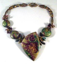 Nancy's Necklace 2011, polymer clay jewelry