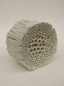 A favorite medium of mine is ceramic – porcelain can be translucent, stoneware can be chalky and strong, and some can be nearly paperlike and sculptural. The work ofThérèse Lebrun is just th…