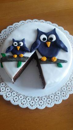 Eulentorte von Jessica (ohne Blog) Wordpress, Happy Birthday, Sugar, Cookies, Cake, Desserts, Blog, Treats, Pies