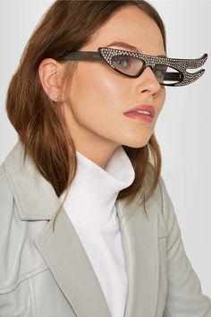5d9c69842bb1 Gucci - Embellished cat-eye acetate sunglasses