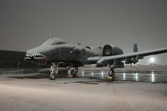 Now this is a Christmas shot. An A-10 Warthog with a light dusting of snow. Warms the cockles of your heart doesn't it.
