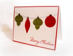Cricut cut out ornaments simple & nice, could use baker's twine for string