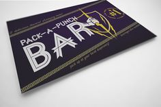 Ad design for Pack-a-punch bar
