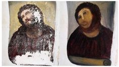 """Cecilia Gimenez famously turned an oil fresco painted in the Misericordia Church in Borja, north eastern Spain, into an abomination described by the BBC as resembling a """"crayon sketch of a very hairy monkey."""""""