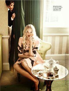 Gabriella Wilde in Dolce & Gabbana by Walter Chin for UK Glamour December 2013