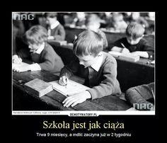 Szkola... Funny Mems, Funny Jokes, Take A Smile, Weekend Humor, School Memes, Best Memes, Lol, Entertaining, Funny Memes