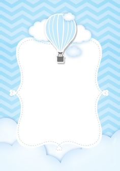 Airballoon Baby Shower invitation by glitterinvitescy on Etsy Scrapbook Bebe, Baby Boy Scrapbook, Babyshower Party, Baby Party, Balloon Invitation, Shower Invitation, Baby Shower Souvenirs, Baby Frame, Baby Shower Invitaciones