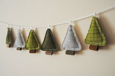Woodland Holiday Garland, Primitive Christmas Pine Trees by What. No Mints? contemporary holiday decorations