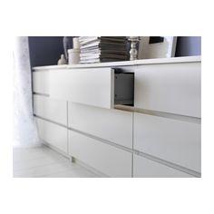 MALM Byrå med 3 lådor - vit - IKEA