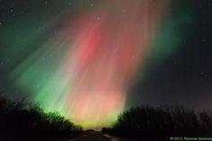 Aurora on March 17, 2015 in Bulyea, Saskatchewan, Canada.