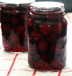 Perfect for a cheese plate or in cocktails: Spiced Pickled Cherries