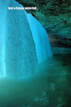 Just a frozen waterfall - theberry.com