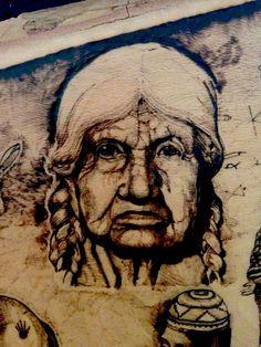 Wood Burning - Native American Life