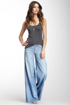 Blank NYC Mid Rise Wide Leg Jean