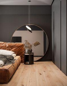 Bedroom Bed Design, Modern Bedroom Design, Home Room Design, Modern House Design, Home Bedroom, Home Interior Design, Interior Decorating, Modern Mirror Design, Nordic Bedroom