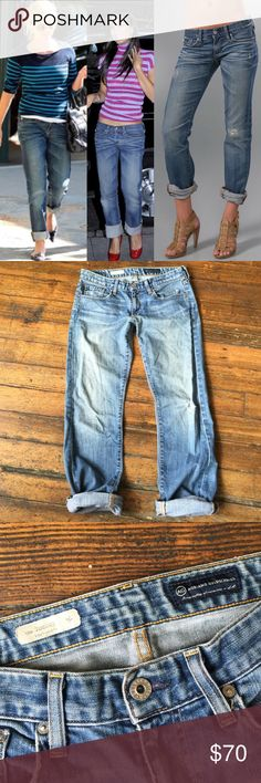 "AG the Tomboy Boyfriend Jeans 29R USA Made In excellent pre loved condition! Distressed in all of the right places! The back pockets even came distressed! 33"" inseam not rolled up. Anthropologie Jeans Boyfriend"