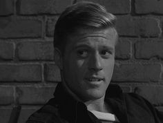 "Robert Redford from THE TWILIGHT ZONE episode ""Nothing in the Dark"" (1962)."