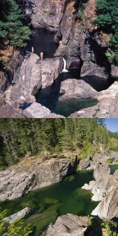 Sooke Potholes - One of the worlds best swimming holes. Definitely worth the short 30 minute drive from Victoria BC Best Swimming, Swimming Holes, Vacation Destinations, Vacation Spots, Vacation Ideas, Places To Travel, Places To See, Future Travel, Vancouver Island