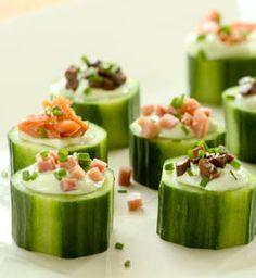 garden party ideas cucumber cup