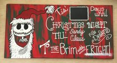 Nightmare before Christmas countdown wood sign by CereesShop on Etsy https://www.etsy.com/listing/254504083/nightmare-before-christmas-countdown