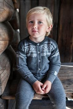 Marius Heldress Grå Nordic Style, Pullover, Sweaters, Kids, Mens Tops, T Shirt, Collection, Scandinavian, Baby