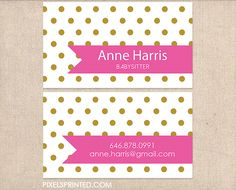 Babysitter Business Cards Nanny Au Pair Child Card Nursery Day Care