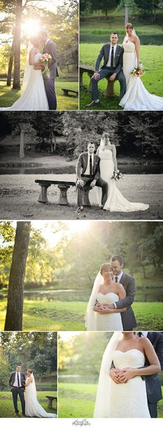 Lovely bride and groom at sunset The Inn at Evins Mill by Autumn J Tade Photography www.autumnjtadephotography.com