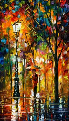 STROLL AFTER THE RAIN - PALETTE KNIFE Oil Painting On Canvas By Leonid Afremov http://afremov.com/STROLL-AFTER-THE-RAIN-PALETTE-KNIFE-Oil-Painting-On-Canvas-By-Leonid-Afremov-Size-30-X24.html?bid=1&partner=20921&utm_medium=/vpin&utm_campaign=v-ADD-YOUR&utm_source=s-vpin