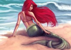For Kathy   mermaid tattoo | Tumblr I love this tat, even with the red hair.  Thanks Julie!!