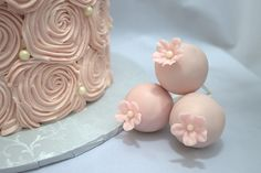 Pink Cake Pops with Sugar Flowers