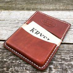 Krysl Leather Goods  Credit & Business card holder hand made