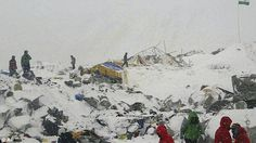 The avalanche rumbled down a treacherous icefall into a mountaineering base camp, killing at least 17 climbers and injuring an untold number of others, officials said. Mount Everest Climbers, Top Of The World, Mountaineering, Nepal, At Least, Camping, Pictures, Painting, Base