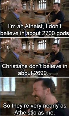 Ricky Gervais on shades of atheism