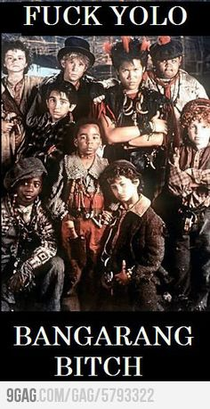 Haha takes me back to being a kid! I loved this movie! Rufio! Rufio! Rufioooo!