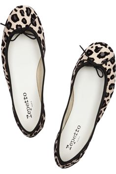 f198fe12b0ad0 Repetto - BB animal-print leather ballet flats