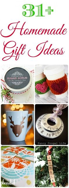 31+ Homemade Christmas Gift Ideas - Great Teacher Gift Ideas!