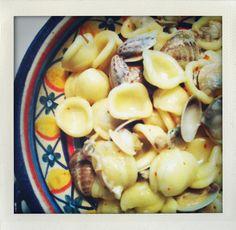 Orecchiette con le vongole    http://www.untoccodizenzero.it/index.php/ricette/primi-piatti/orecchiette-con-cime-di-rapa-no-vongole/