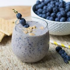 Blueberry Cheesecake Protein Shake by fortmillscliving #Shake #Blueberry #Protein #Cheesecake