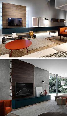 Das Novamobili Reverse TV-Wandpaneel ist eine Präsentationsfläche für Ihren Flachbildschirm und hat seitlich hinter dem Paneele noch praktische Regalfächer, optional mit integrierter Beleuchtung. #TV-Wandpaneel #Paneele #TV #Regalfächer #Regal #Wohnzimmer #livingroom #modern #minimalistisch #minimalism #Wohntrend #Novamobili #Livarea #Wohnstil #Trend #Inneneinrichtung #Innenarchitektur #home #einrichten #wohnen #interiordesign #interiordecorating