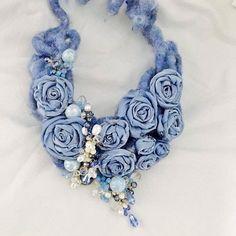 "51 Likes, 6 Comments - Marcella Cataldo (@nelbauledimarci) on Instagram: ""#love #fall #autumn #felted #scarf #necklace #lace #sewing #fattoamano #artigianato #handmade…"""